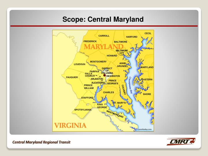 Scope: Central Maryland