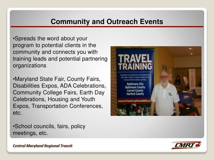 Community and Outreach Events