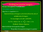 dividing two positive integers