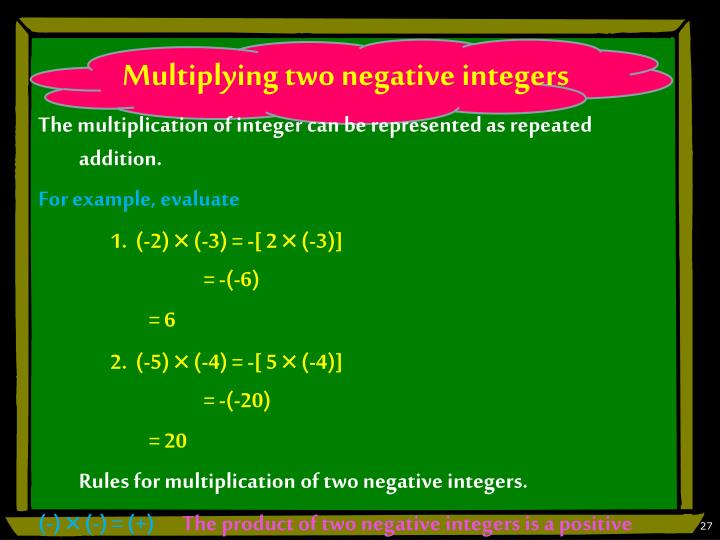 Multiplying two negative