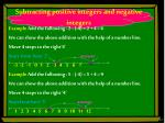 subtracting positive integers and negative integers