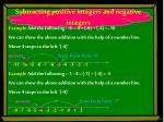 subtracting positive integers and negative integers1