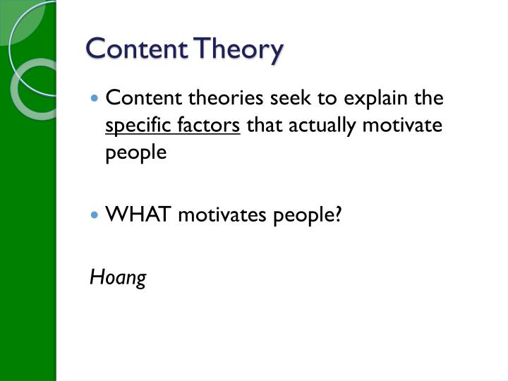 Content Theory