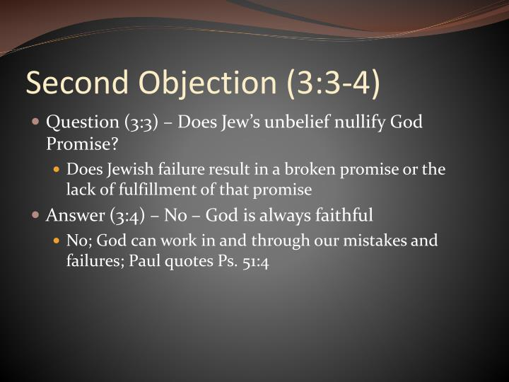 Second Objection (3:3-4)