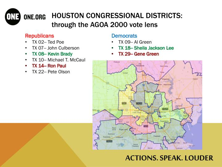 Houston Congressional Districts: