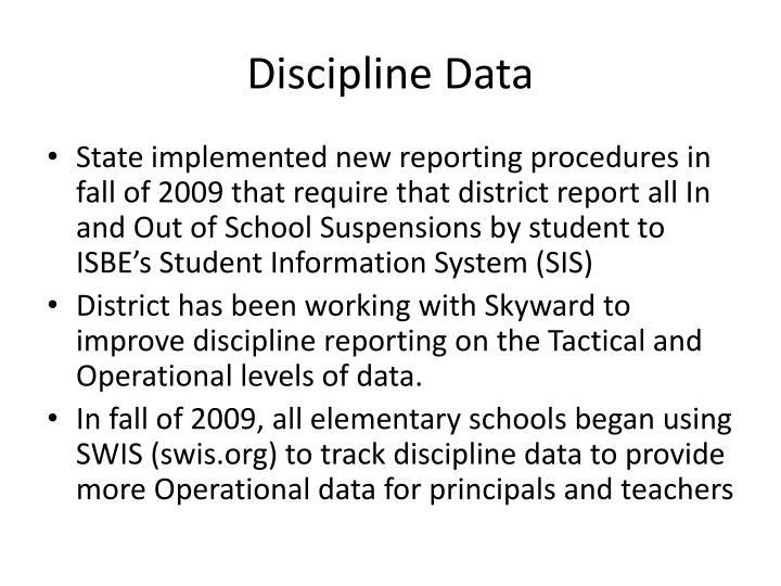 Discipline Data