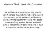 mission of district leadership committee