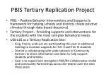 pbis tertiary replication project