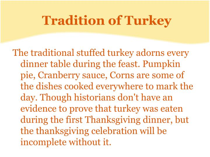 Tradition of Turkey