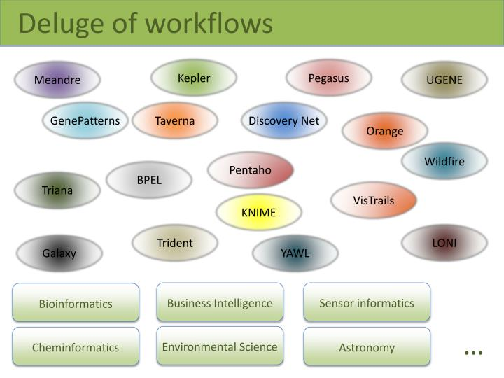 Deluge of workflows