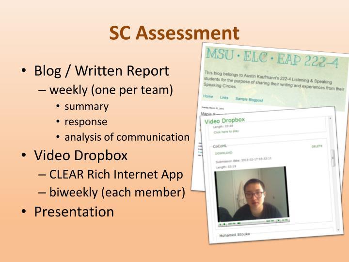 SC Assessment