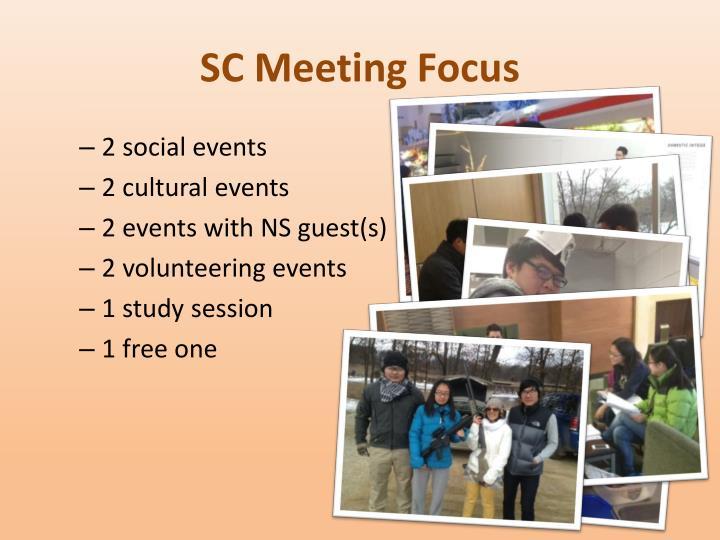 SC Meeting Focus