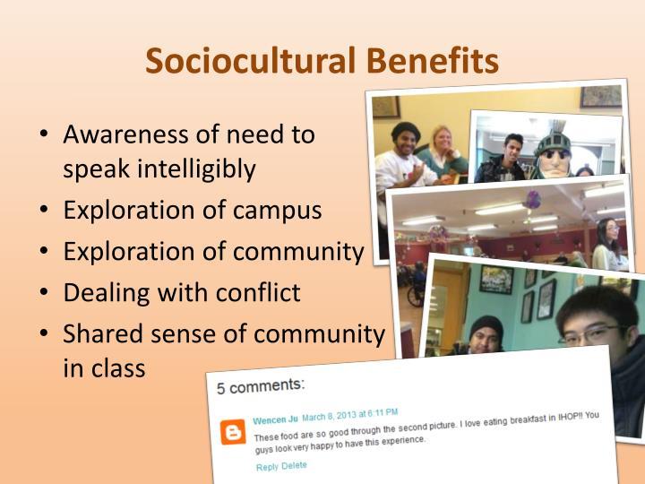 Sociocultural Benefits