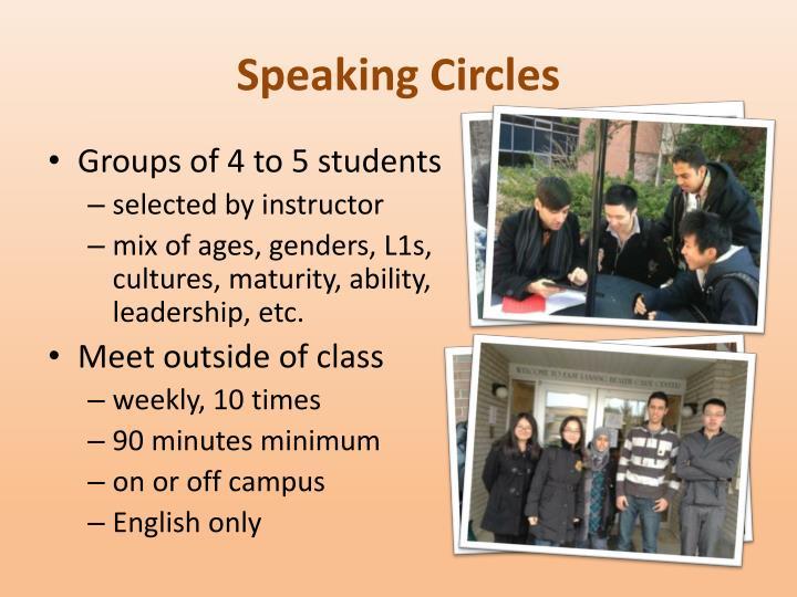 Speaking Circles