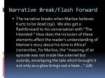 narrative break flash forward