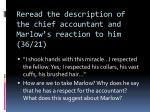 reread the description of the chief accountant and marlow s reaction to him 36 21