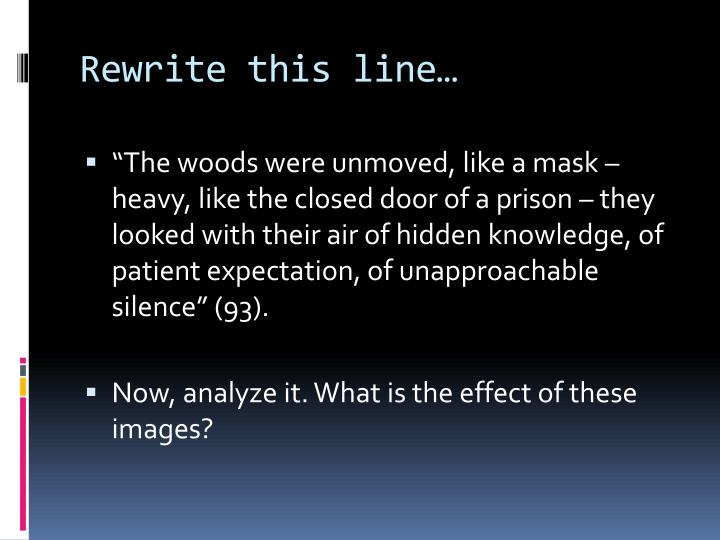 Rewrite this line…