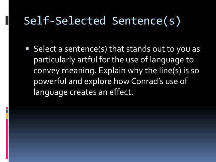 Self-Selected Sentence(s)