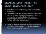 starting with mind he began again page 20 7
