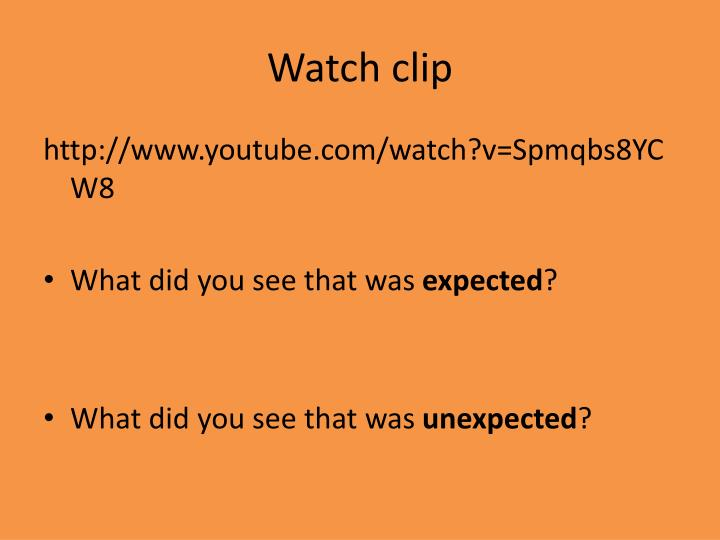 Watch clip