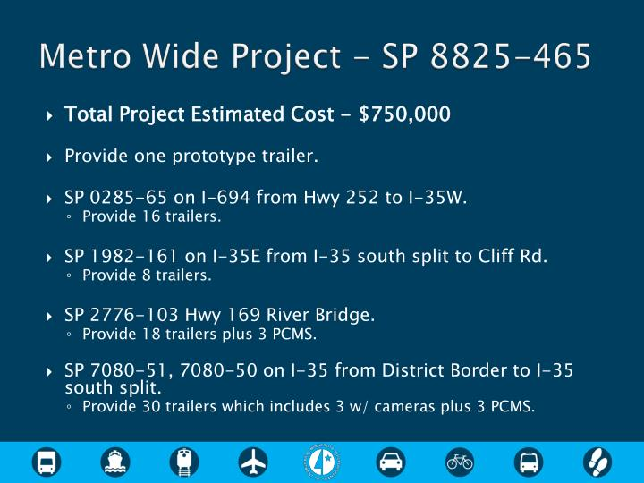 Metro Wide Project - SP 8825-465