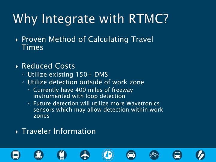 Why Integrate with RTMC?