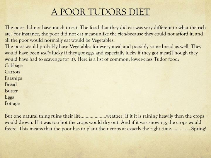 A POOR TUDORS DIET