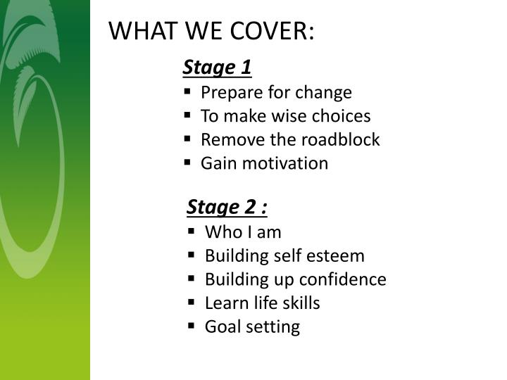 WHAT WE COVER: