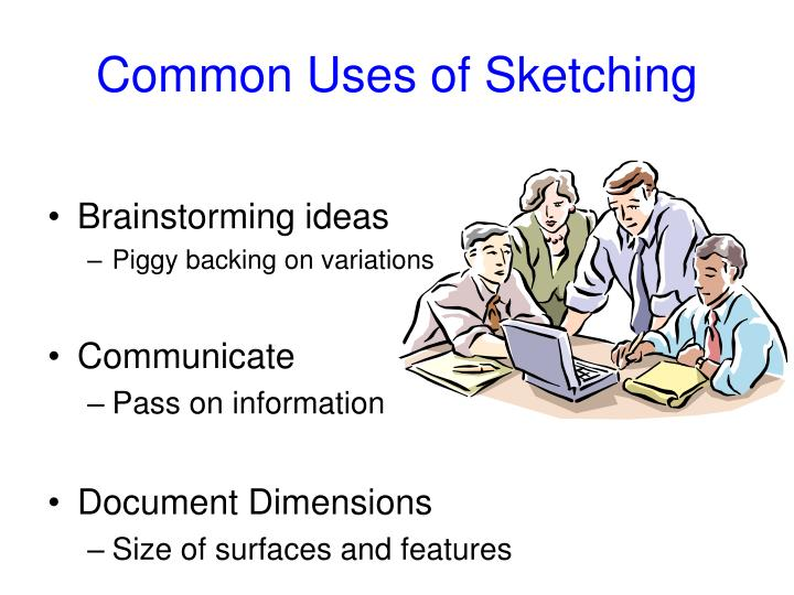 Common uses of sketching