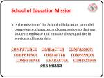 school of education mission