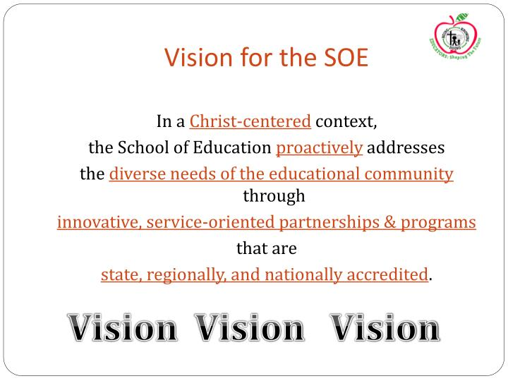 Vision for the SOE