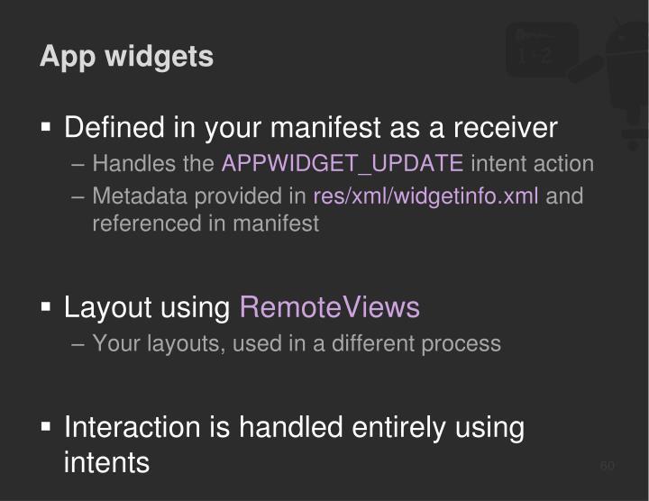 App widgets
