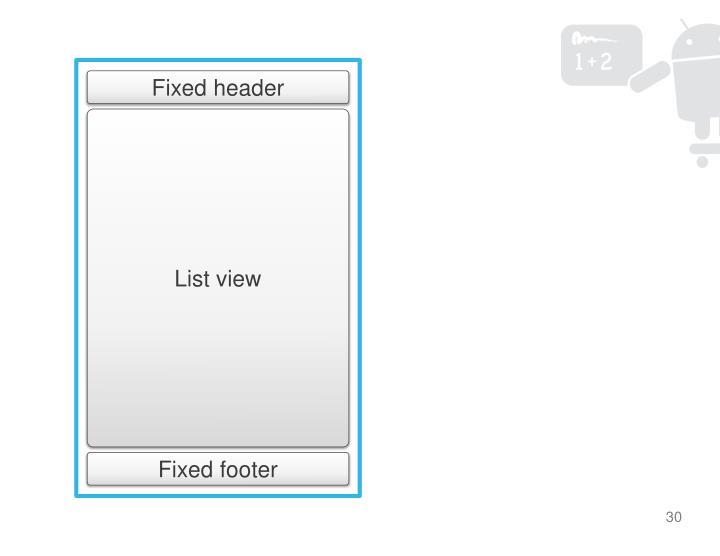 Fixed header