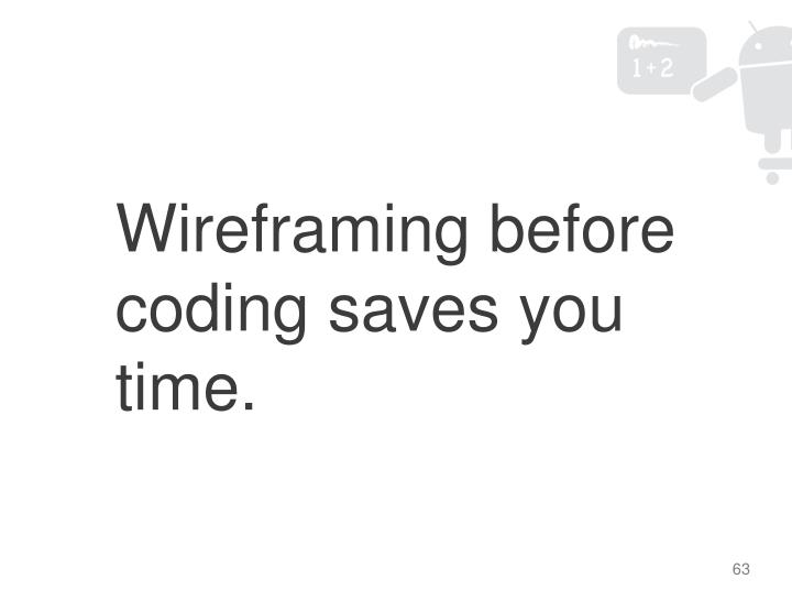 Wireframing before coding saves you time.