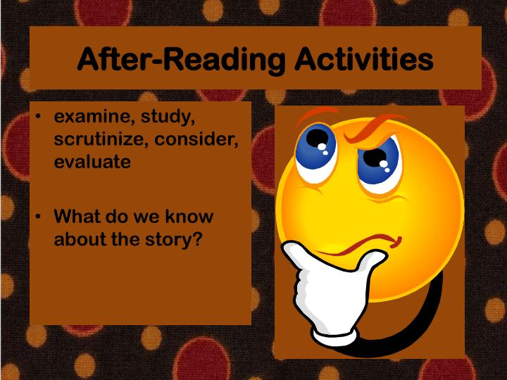 After-Reading Activities