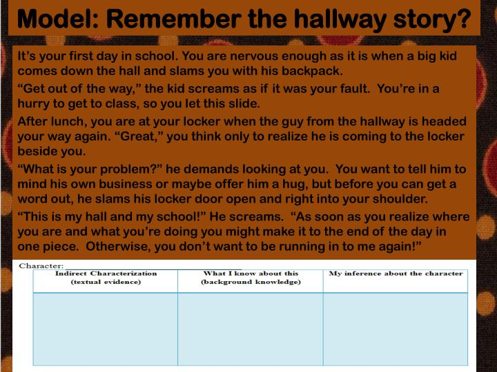 Model: Remember the hallway story?