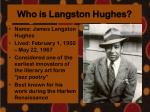 who is langston hughes