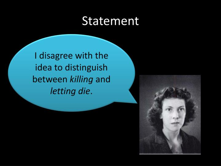 equivalence thesis killing and letting die