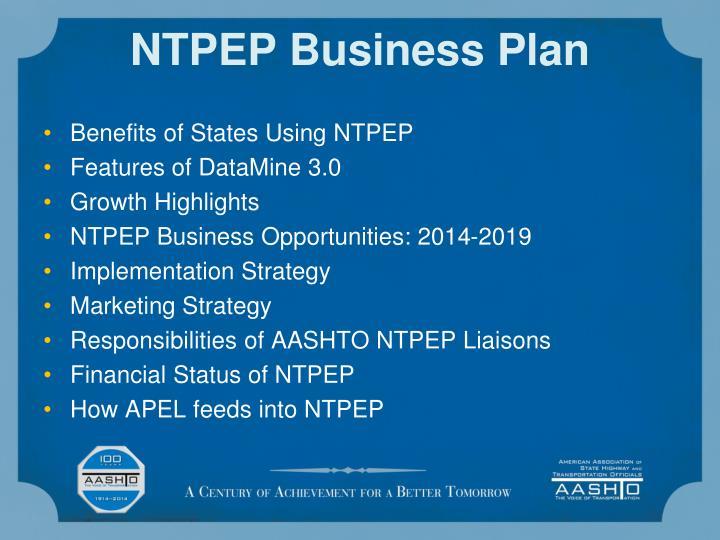 NTPEP Business Plan