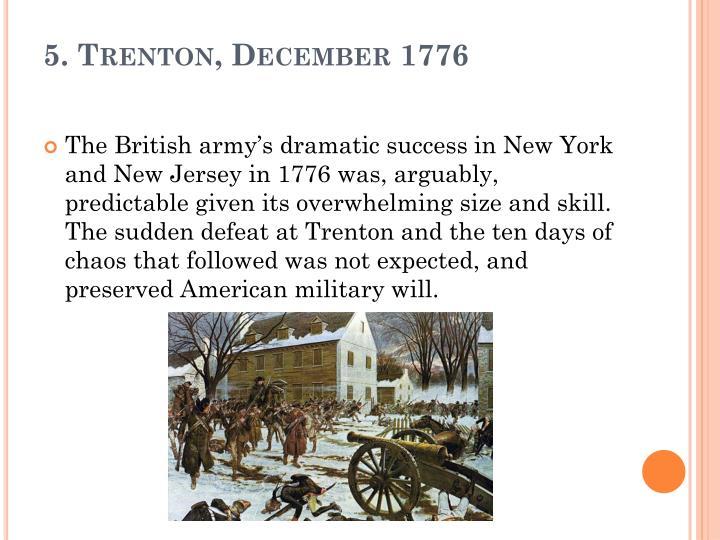 5. Trenton, December 1776
