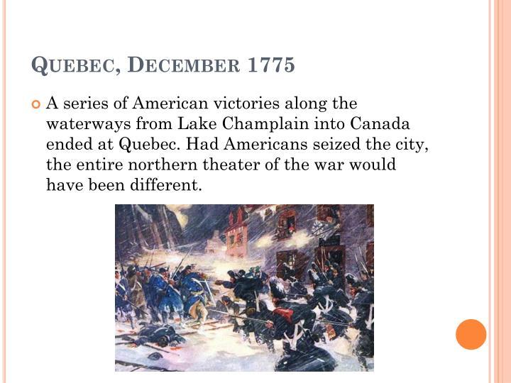 Quebec, December 1775