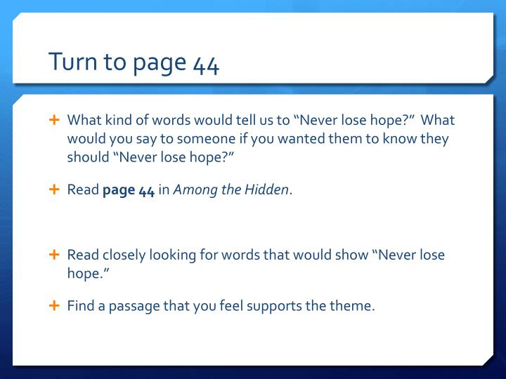 Turn to page 44