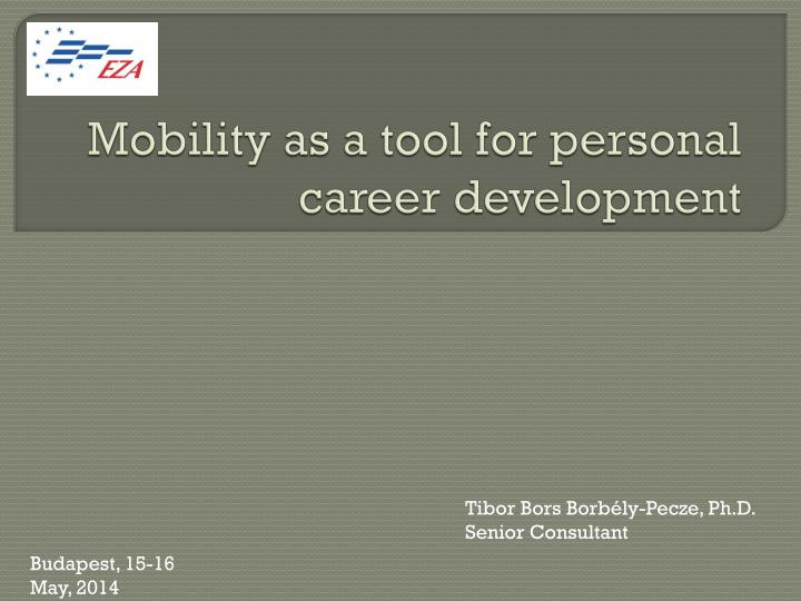 mobility as a tool for personal career development