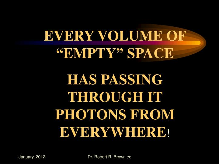 """EVERY VOLUME OF """"EMPTY"""" SPACE"""