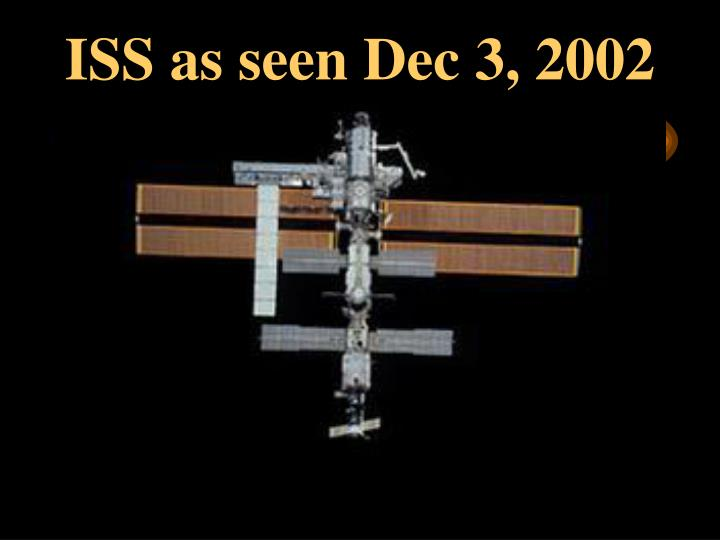 ISS as seen Dec 3, 2002