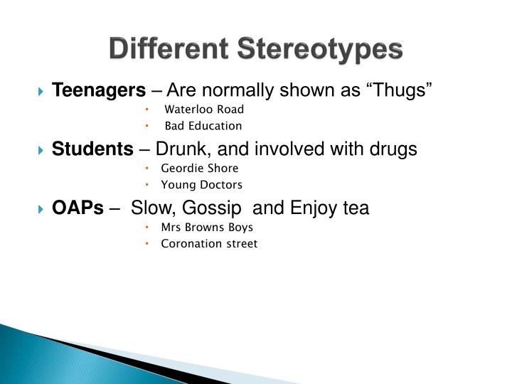 Different stereotypes