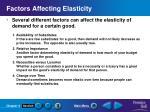 factors affecting elasticity