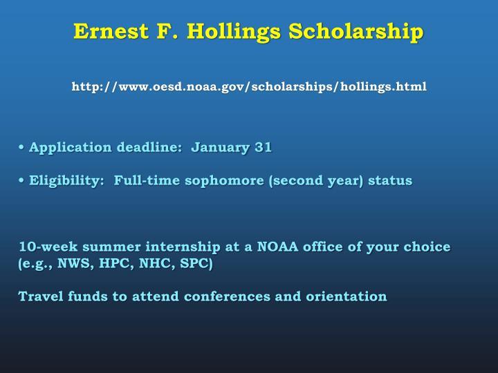 Ernest F. Hollings Scholarship