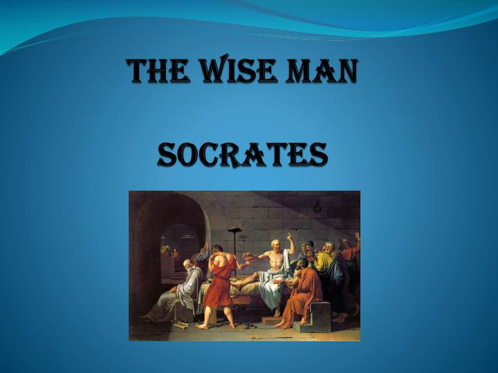 the wise man socrates