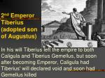 2 nd emperor tiberius adopted son of augustus